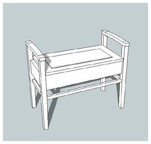 Sketchup Piano Stool